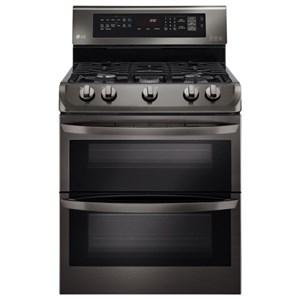 LG Appliances Gas Ranges 6.9 cu. ft. Gas Double Oven Range