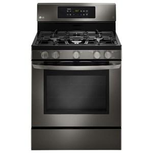 LG Appliances Gas Ranges 5.4 cu.ft. Capacity Gas Single Oven Range
