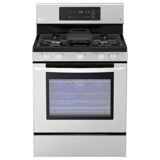 Gas Ranges 5.4 cu. ft. Capacity Gas Single Oven Range by LG Appliances at Westrich Furniture & Appliances