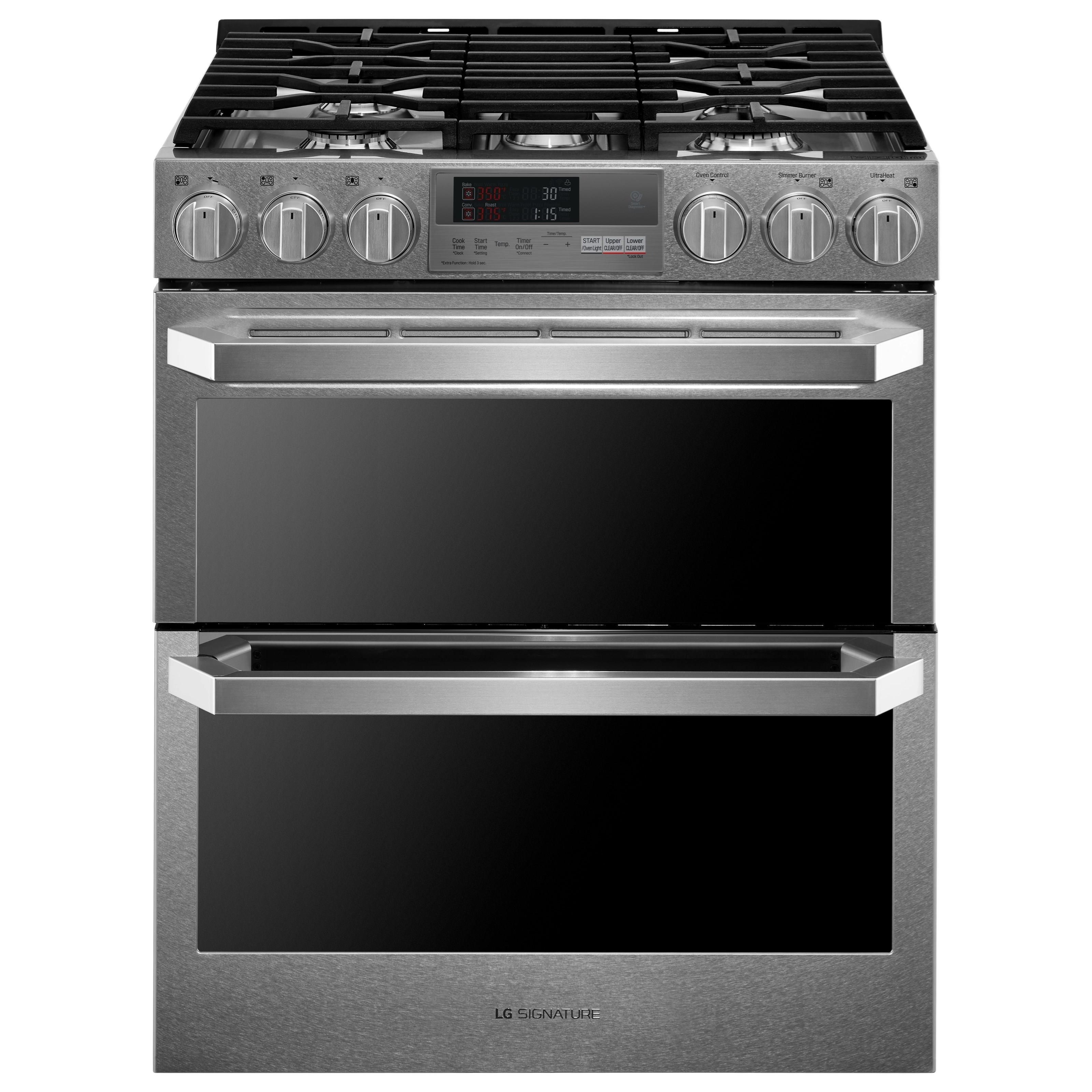 Gas Ranges LG SIGNATURE 7.3 Cu.Ft. Dual Fuel Range by LG Appliances at Furniture and ApplianceMart