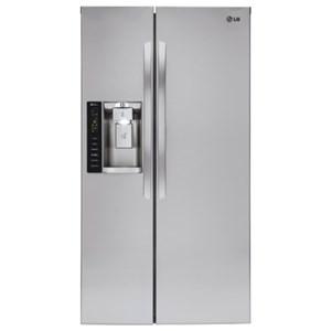 LG Appliances Side by Side Refrigerators 22 Cu. Ft. Side-by-Side Counter-Depth Fridge