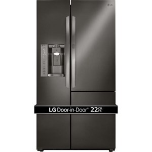 LG Appliances Side by Side Refrigerators- LG 22 Cu.Ft. Counter-Depth Door-in-Door® Fridge