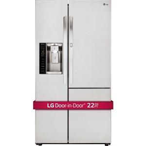 LG Appliances Side by Side Refrigerators 22 Cu.Ft. Counter-Depth Door-in-Door® Fridge