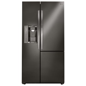 LG Appliances Side by Side Refrigerators- LG 26 cu. ft. Side by Side 3 Door Refridgerator