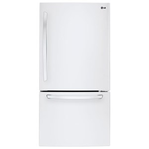 "LG Appliances Top-Freezer Refrigerator 24 Cu. Ft 33"" Wide Top Freezer Refrigerator"