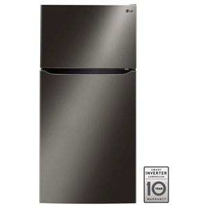 "LG Appliances Top-Freezer Refrigerator - LG 24 Cu. Ft 33"" Wide Top Freezer Refrigerator"