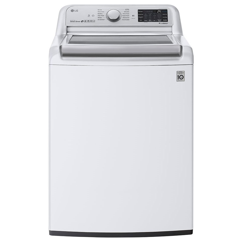 Washers 5.5 cu.ft. Smart Top Load Washer by LG Appliances at Furniture and ApplianceMart