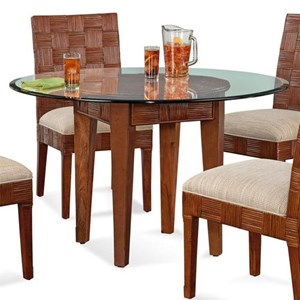 Wicker and Rattan Dining Table