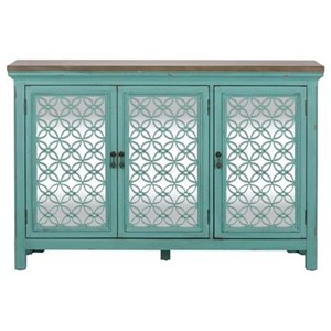 Transitional Accent Chest with 3 Doors