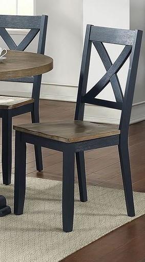 519NY NAVY X Back Navy Chair by Liberty Furniture at Furniture Fair - North Carolina