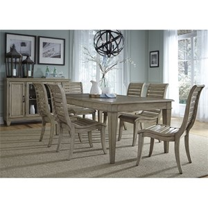 Liberty Furniture 573 7 Piece Leg Table Set