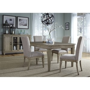 Liberty Furniture 573 5 Piece Rectangular Table Set