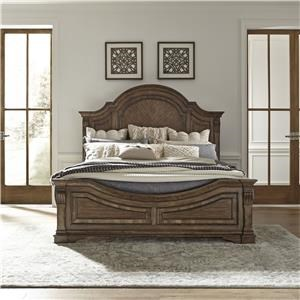 King Panel Bed with Rails