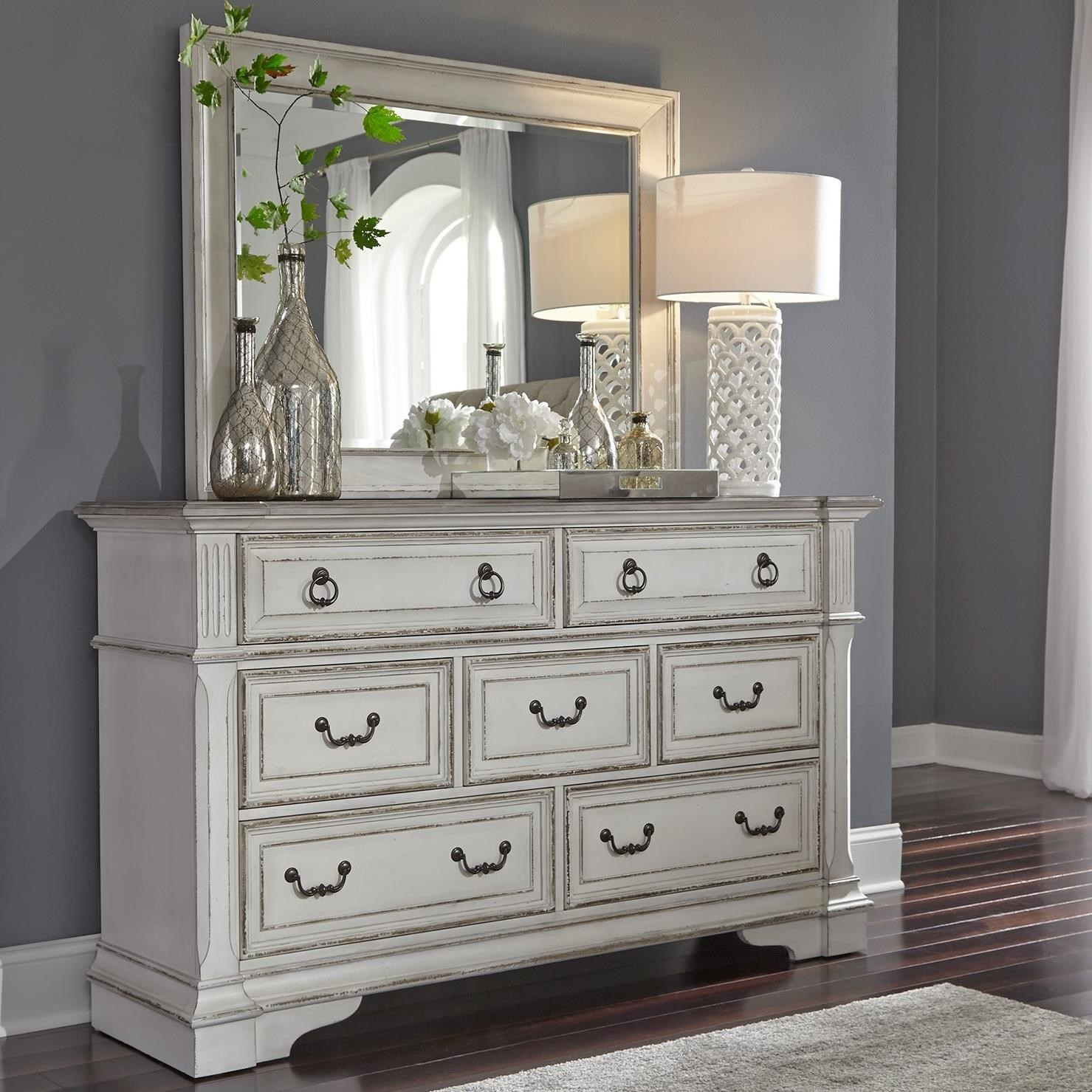 Abbey Park Dresser and Mirror by Liberty Furniture at Lynn's Furniture & Mattress