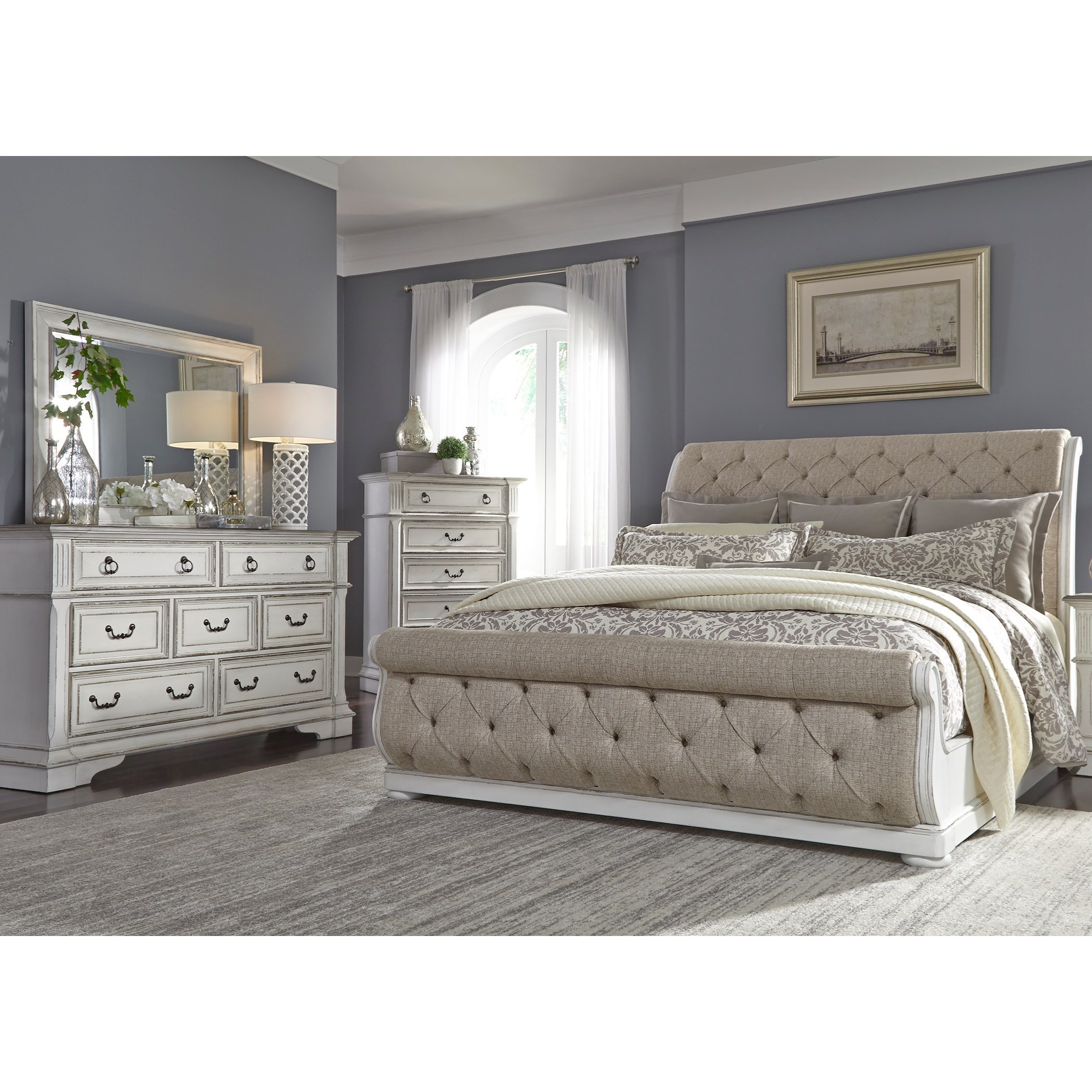 Abbey Park Queen Bedroom Group by Liberty Furniture at Novello Home Furnishings