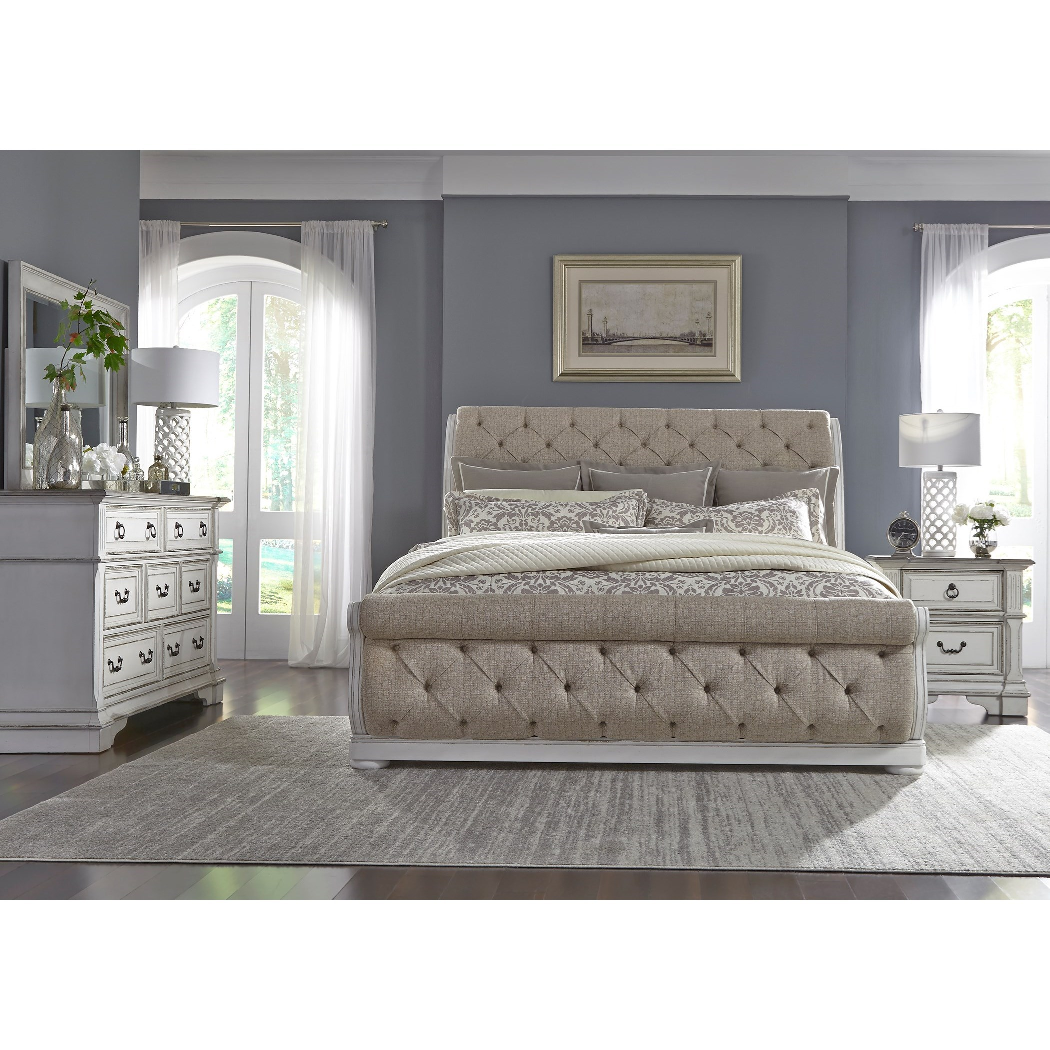 Abbey Park King Bedroom Group by Liberty Furniture at Lynn's Furniture & Mattress