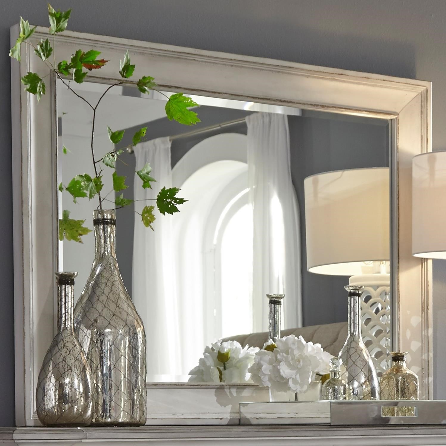 Abbey Park Mirror by Liberty Furniture at Van Hill Furniture