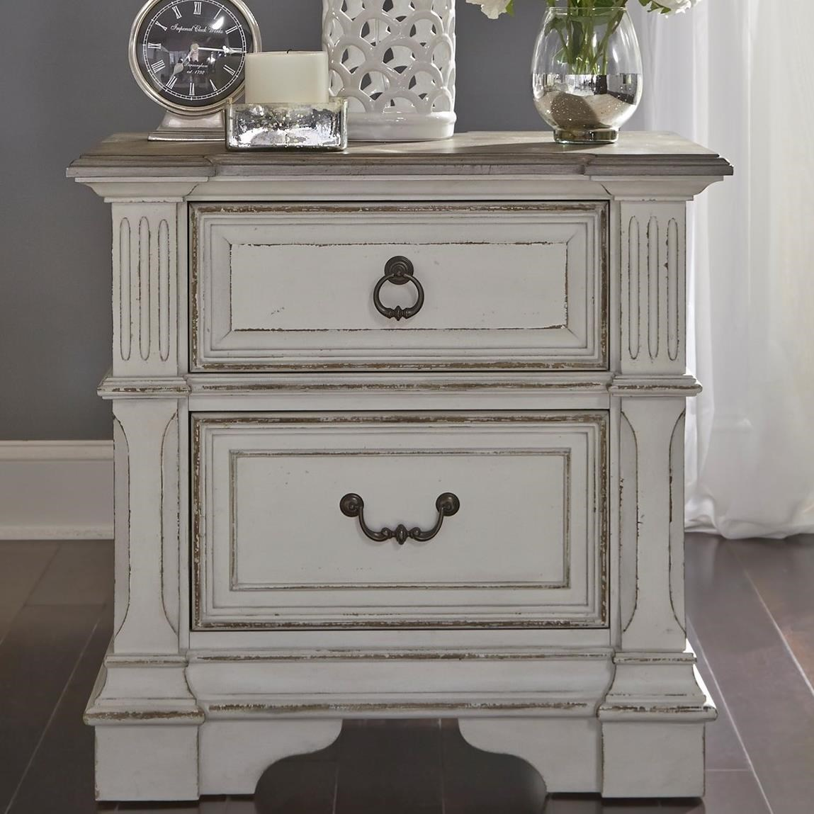 Abbey Park Nightstand by Liberty Furniture at Lynn's Furniture & Mattress