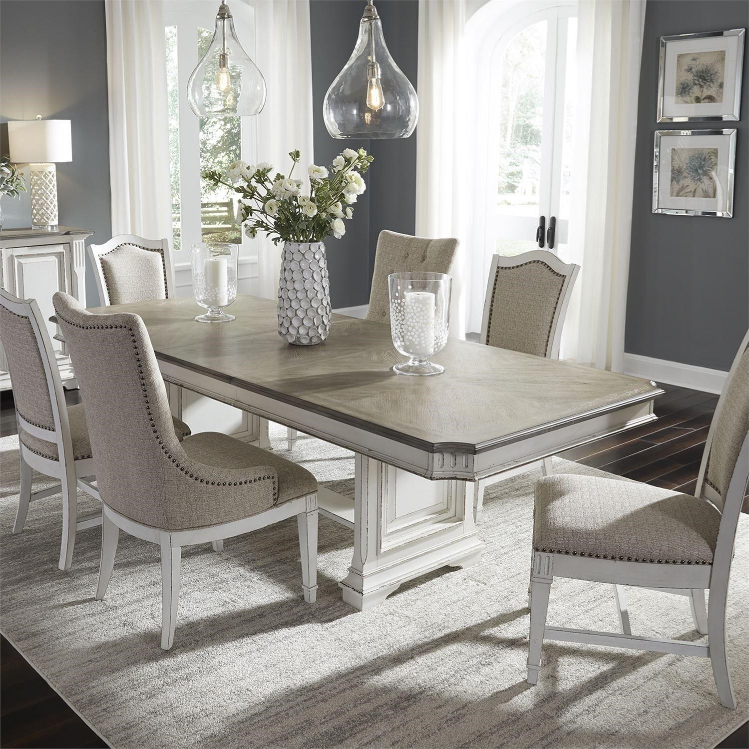 Abbey Park 7 Piece Trestle Table Set  by Libby at Walker's Furniture