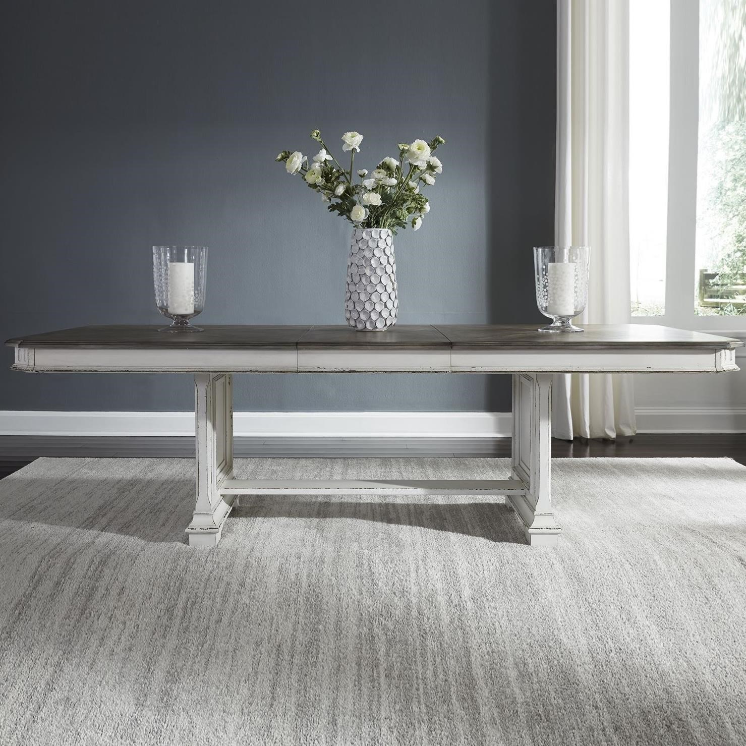 Abbey Park Trestle Table by Libby at Walker's Furniture
