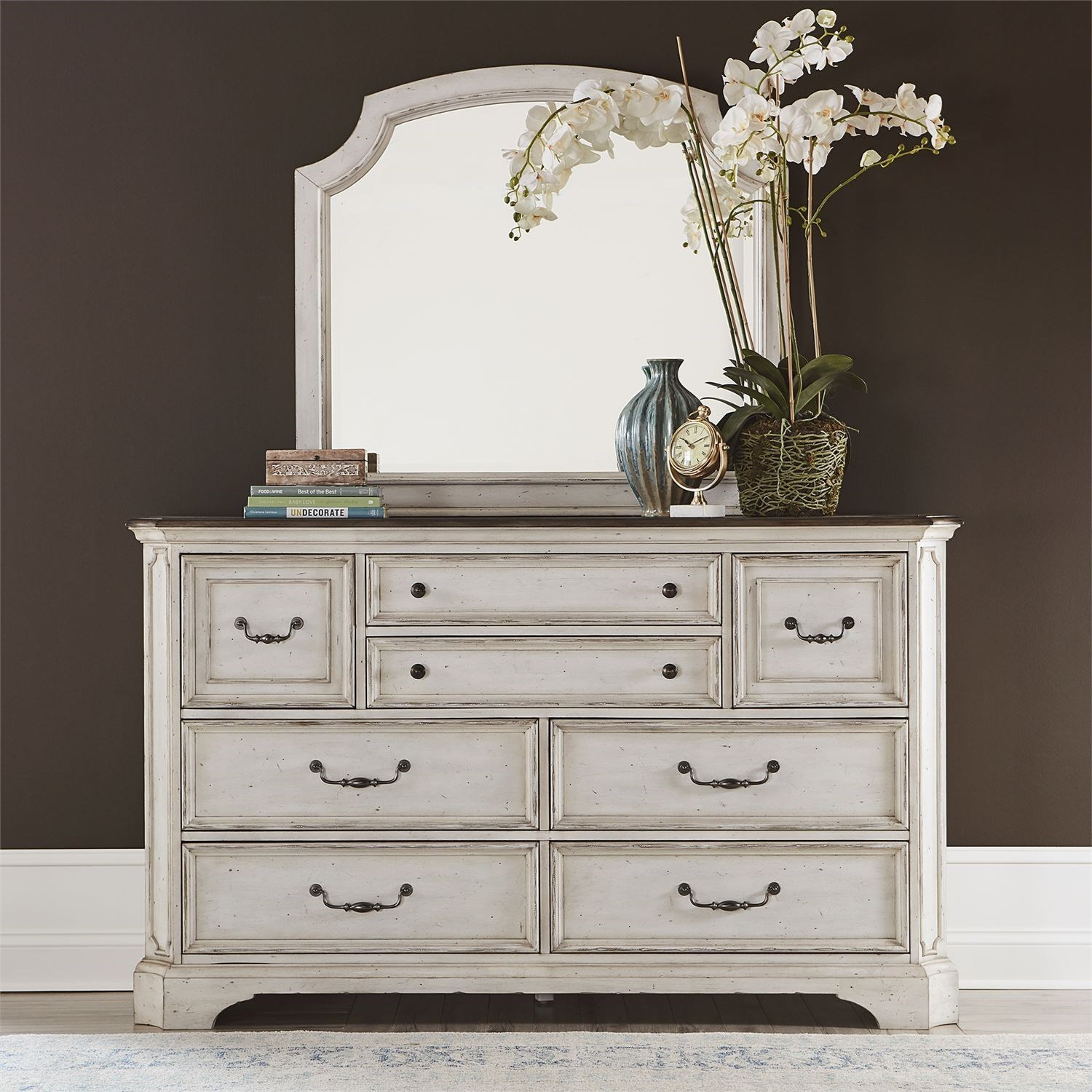 Abbey Road Dresser and Mirror by Libby at Walker's Furniture