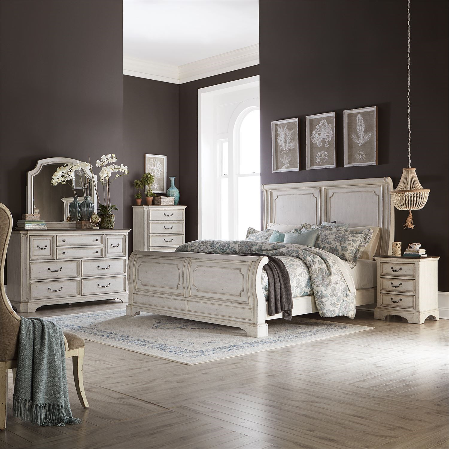 Abbey Road King Bedroom Group by Liberty Furniture at Goffena Furniture & Mattress Center