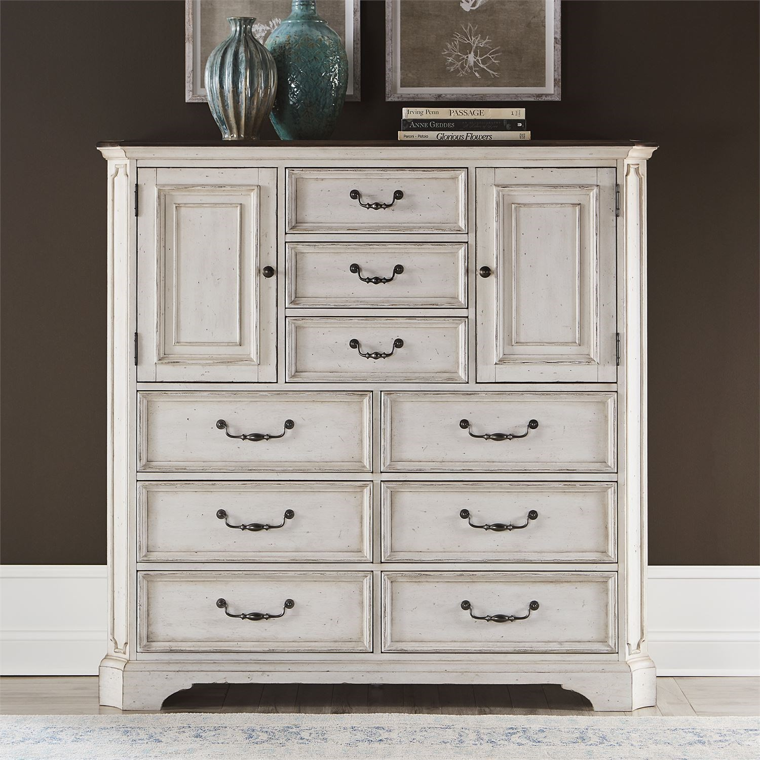 Abbey Road Dressing Chest by Liberty Furniture at Lynn's Furniture & Mattress