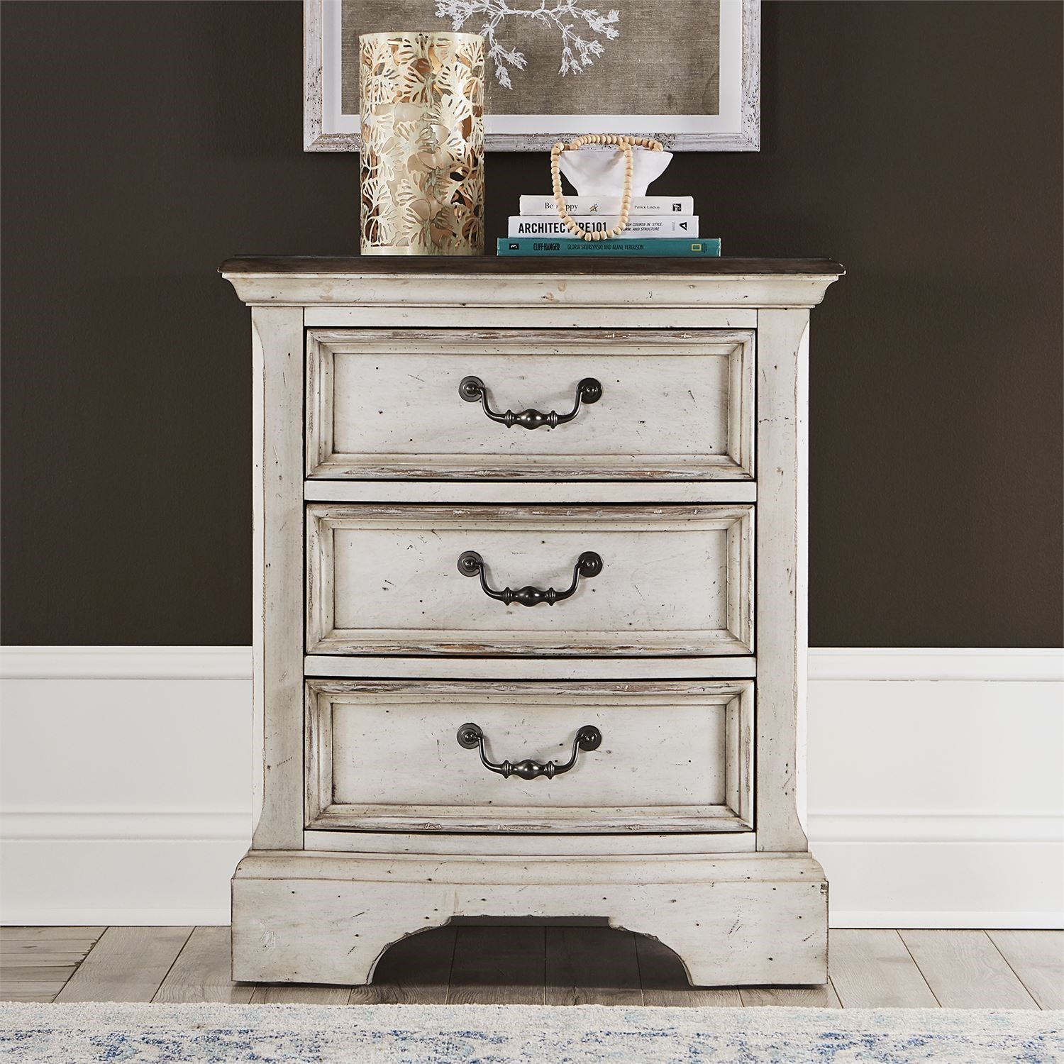 Abbey Road 3-Drawer Nightstand by Liberty Furniture at Factory Direct Furniture