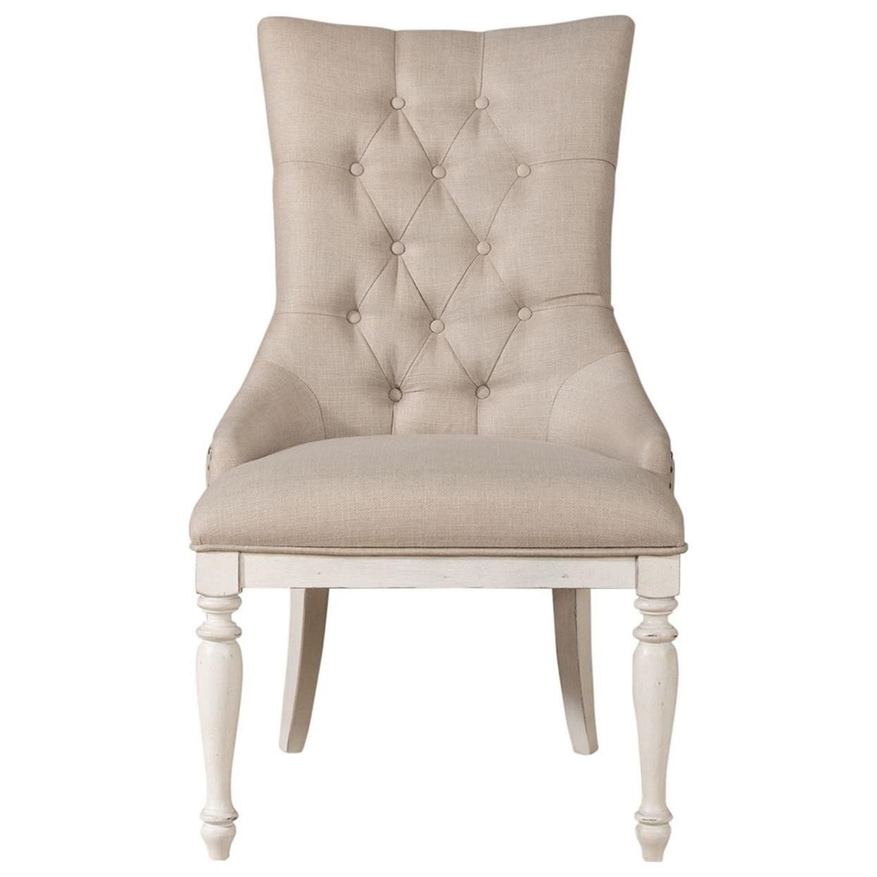 Abbey Road Upholstered Side Chair by Liberty Furniture at Coconis Furniture & Mattress 1st