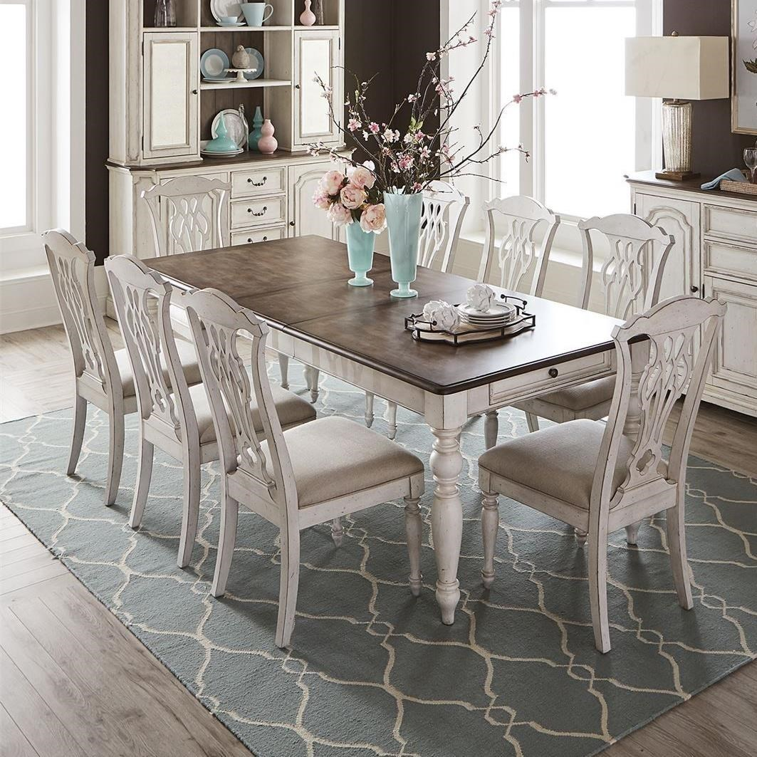 Abbey Road 9-Piece Rectangular Table Set by Liberty Furniture at Lynn's Furniture & Mattress