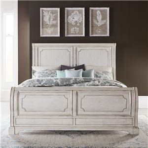 Porcelain White King Sleigh Bed