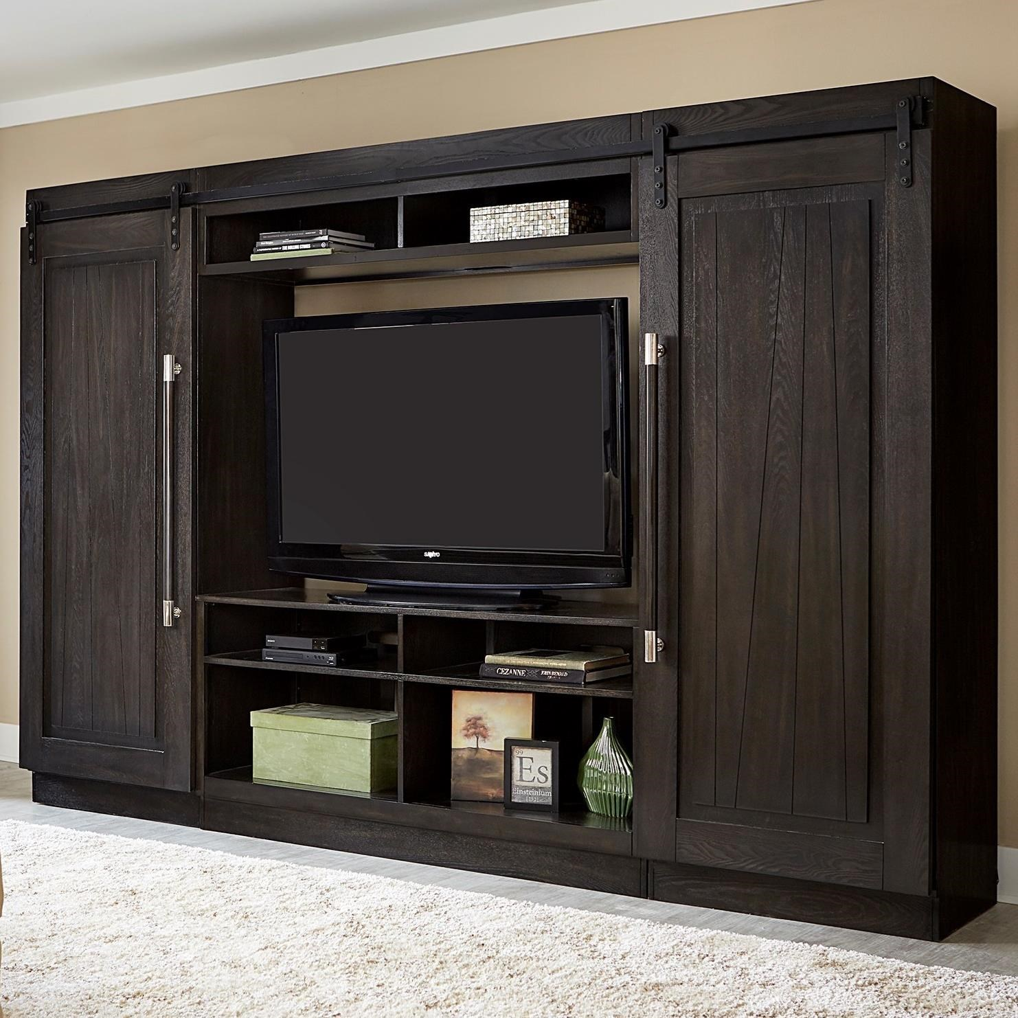 Abbey Entertainment Center with Piers  by Sarah Randolph Designs at Virginia Furniture Market