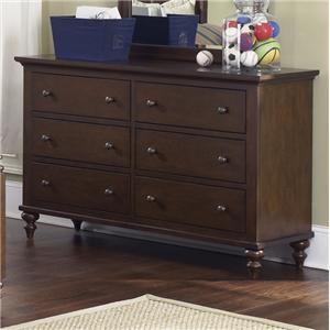 Liberty Furniture Abbott Ridge Youth Bedroom 6 Drawer Dresser