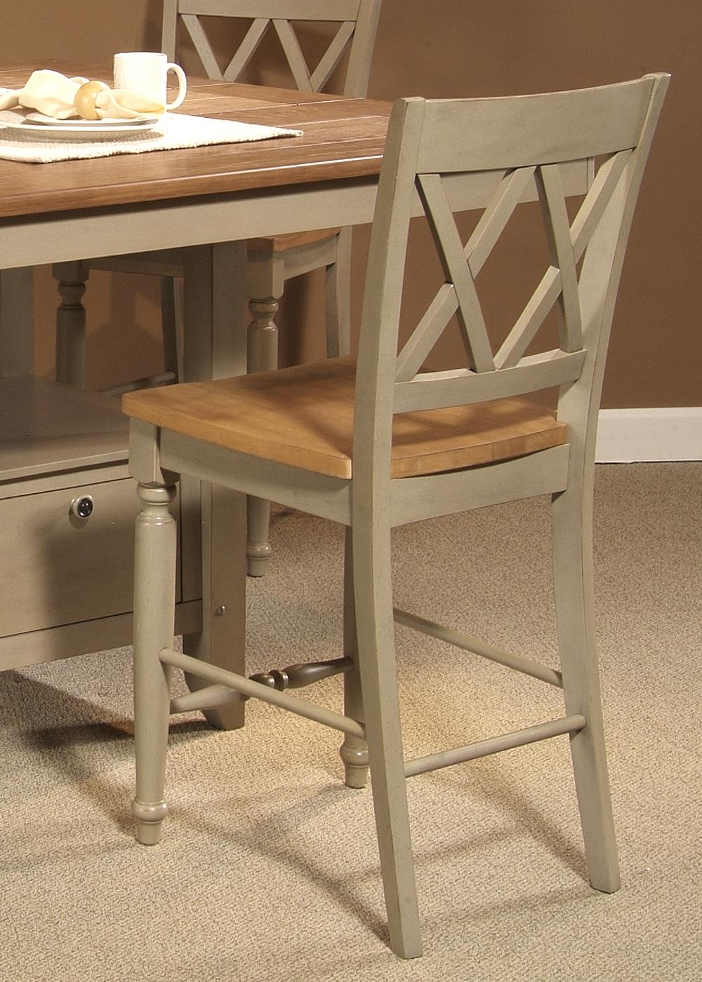 Al Fresco Double X-Back Counter Chair by Liberty Furniture at Lapeer Furniture & Mattress Center