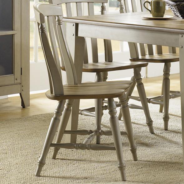 Al Fresco Slat Back Side Chair by Liberty Furniture at Lapeer Furniture & Mattress Center