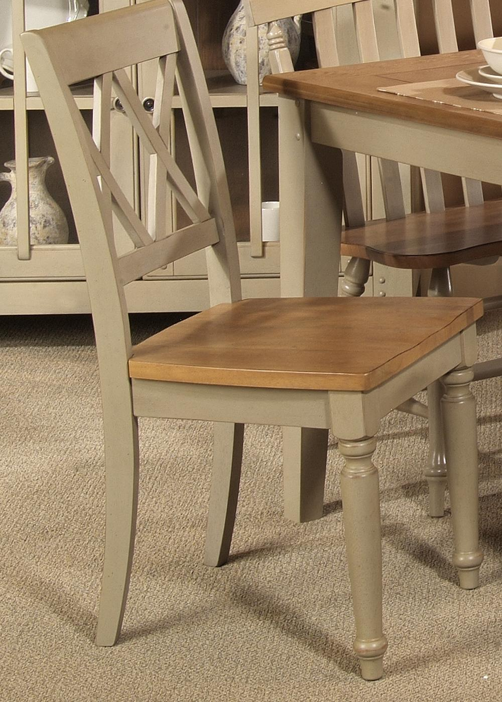 Al Fresco Double X-Back Side Chair by Liberty Furniture at Lapeer Furniture & Mattress Center