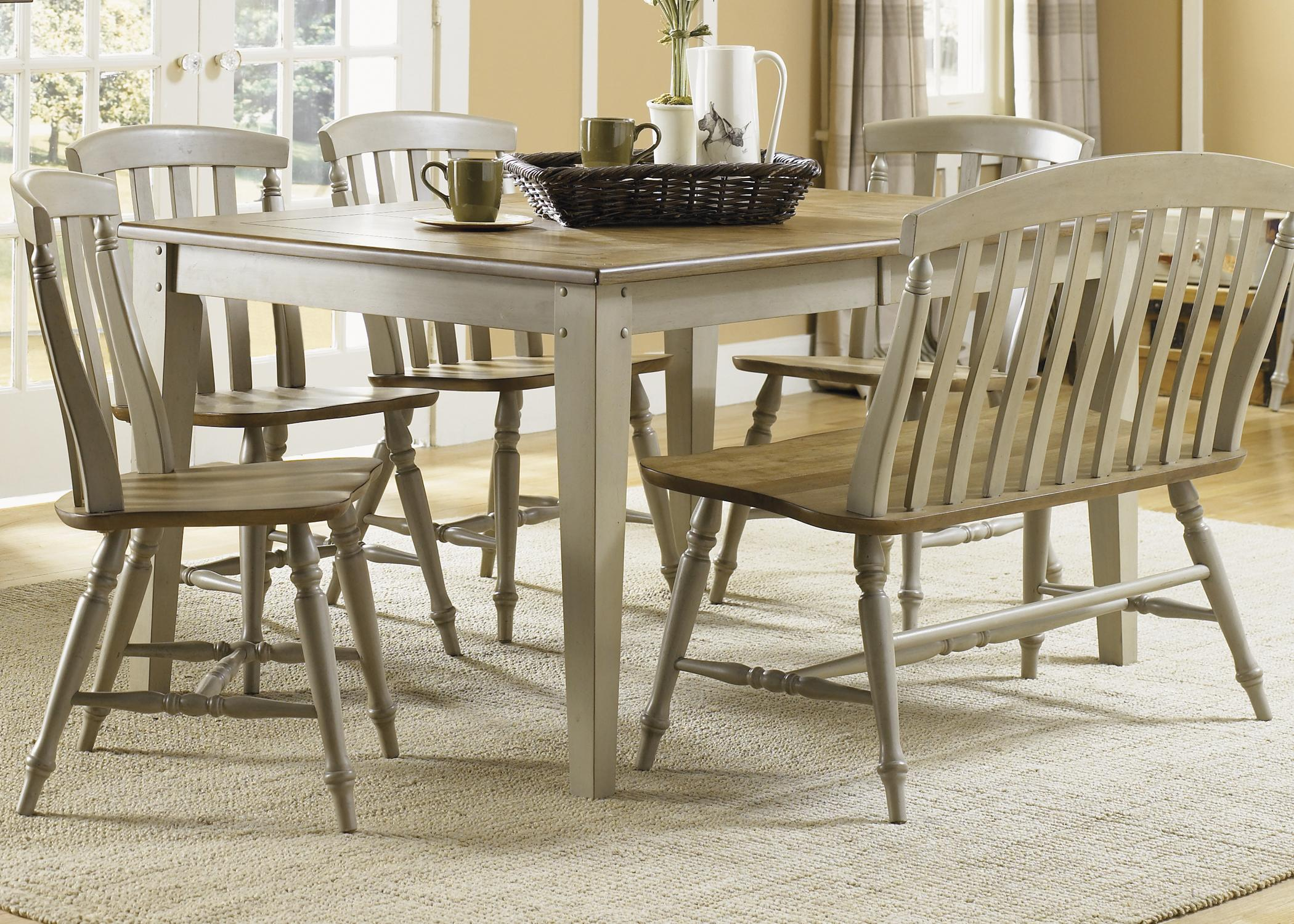 Al Fresco 6 Piece Dining Table and Chairs Set by Liberty Furniture at Lapeer Furniture & Mattress Center