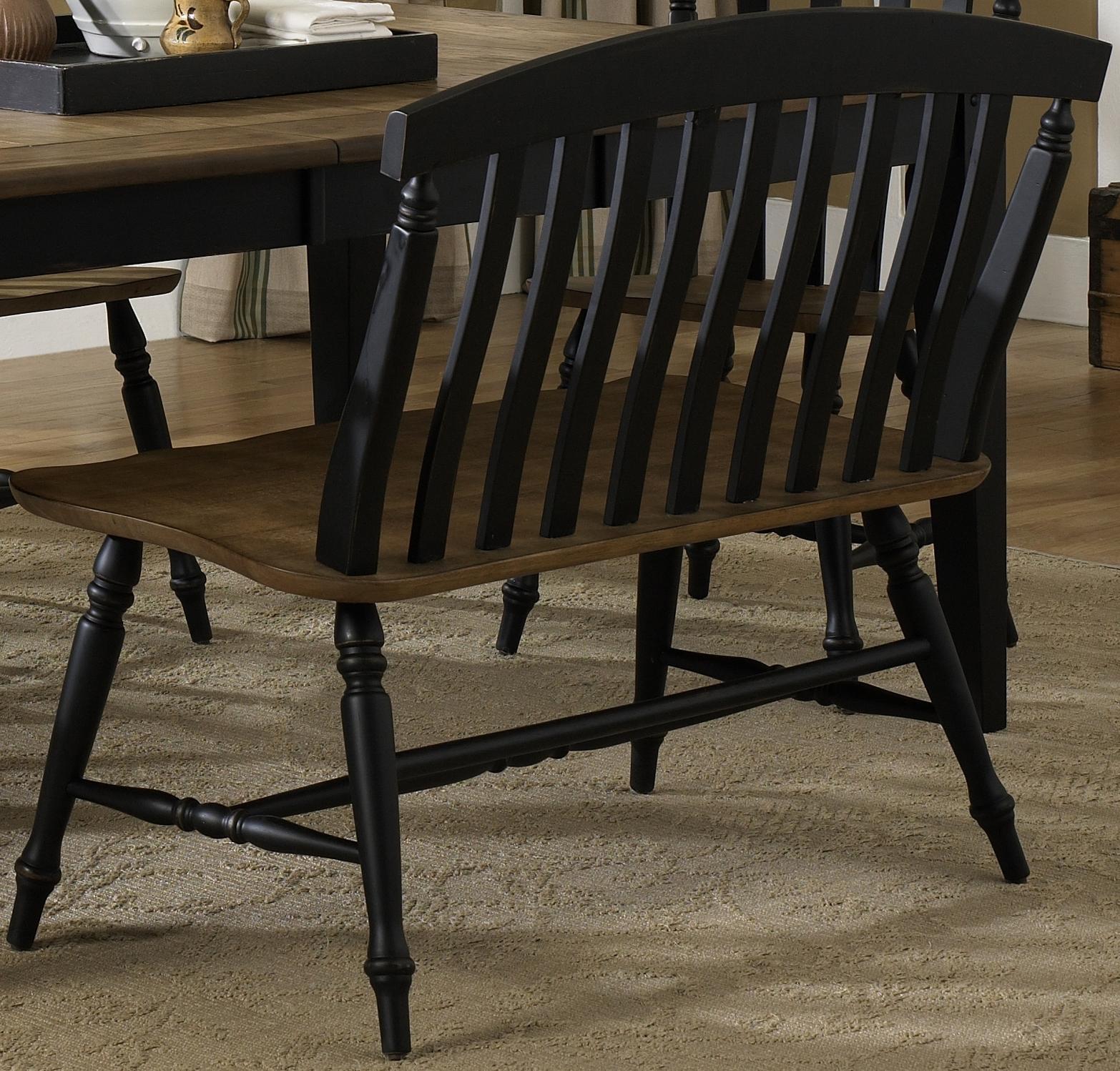Al Fresco II Slat Back Bench by Liberty Furniture at Lapeer Furniture & Mattress Center