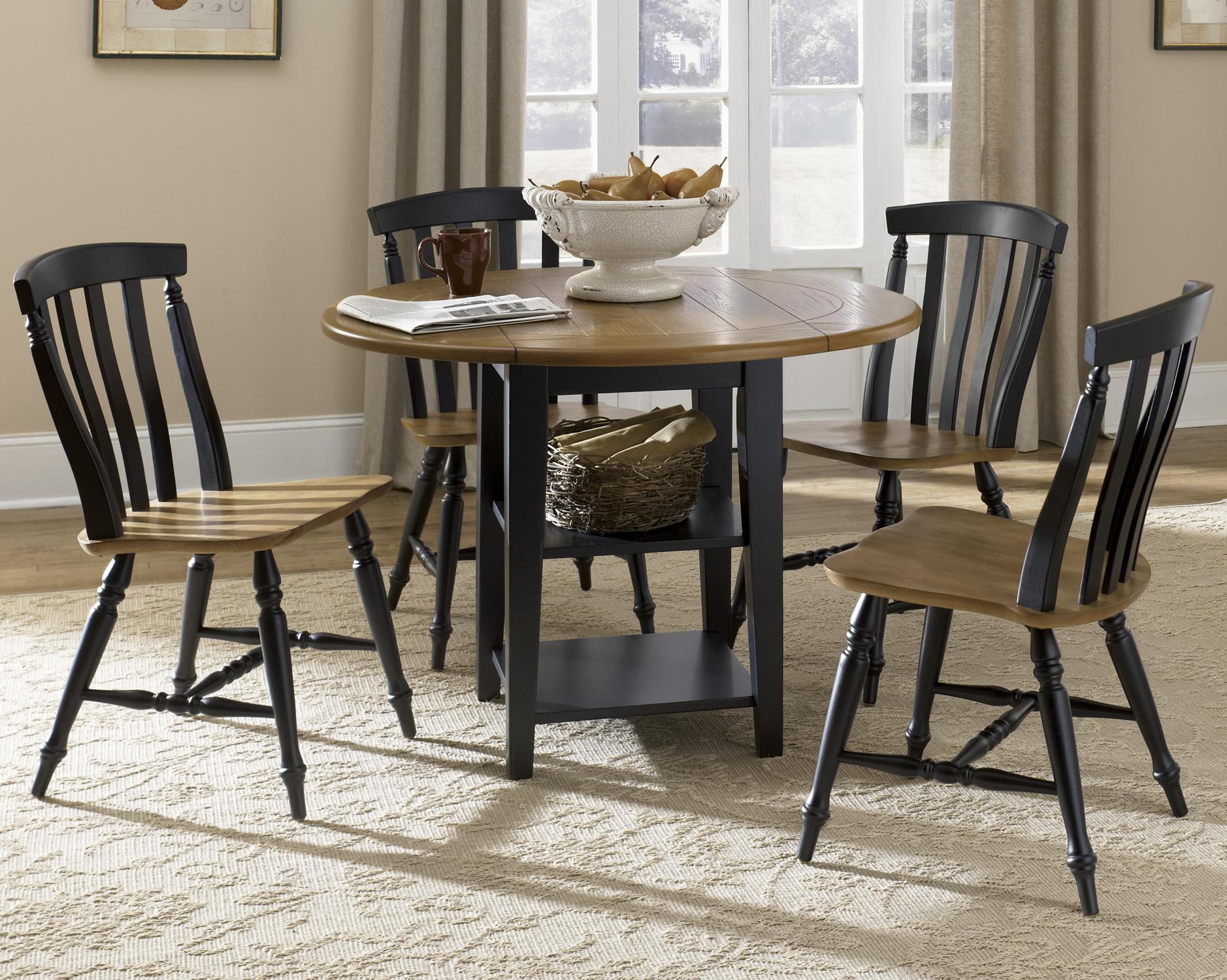 Al Fresco II 5 Piece Drop Leaf Table and Chairs Set by Liberty Furniture at Lapeer Furniture & Mattress Center