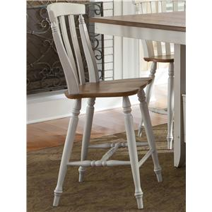 Counter Height Chair with Slat Back