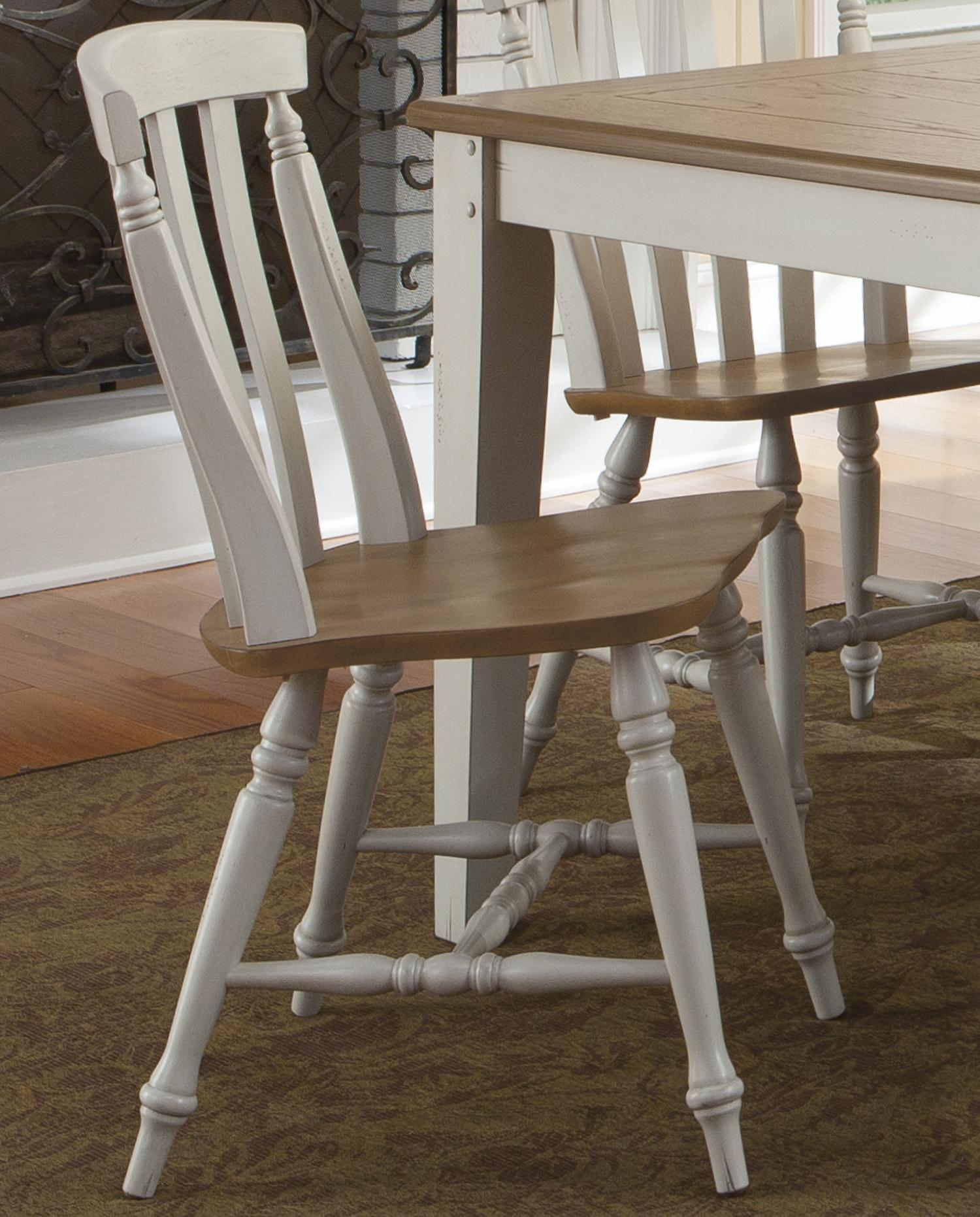 Al Fresco III Slat Back Side Chair by Liberty Furniture at Catalog Outlet