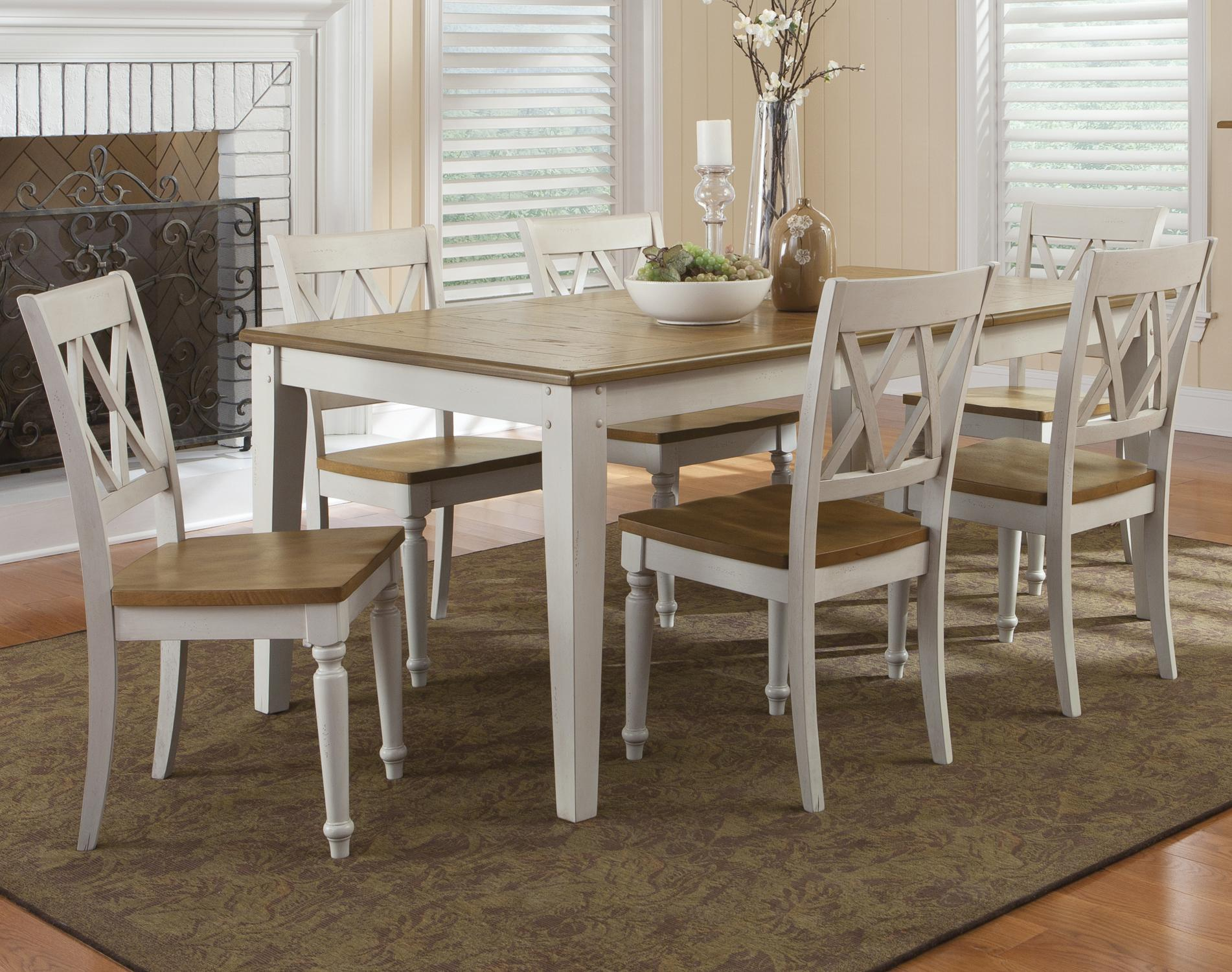 7 Piece Rectangular Table and Chairs Set
