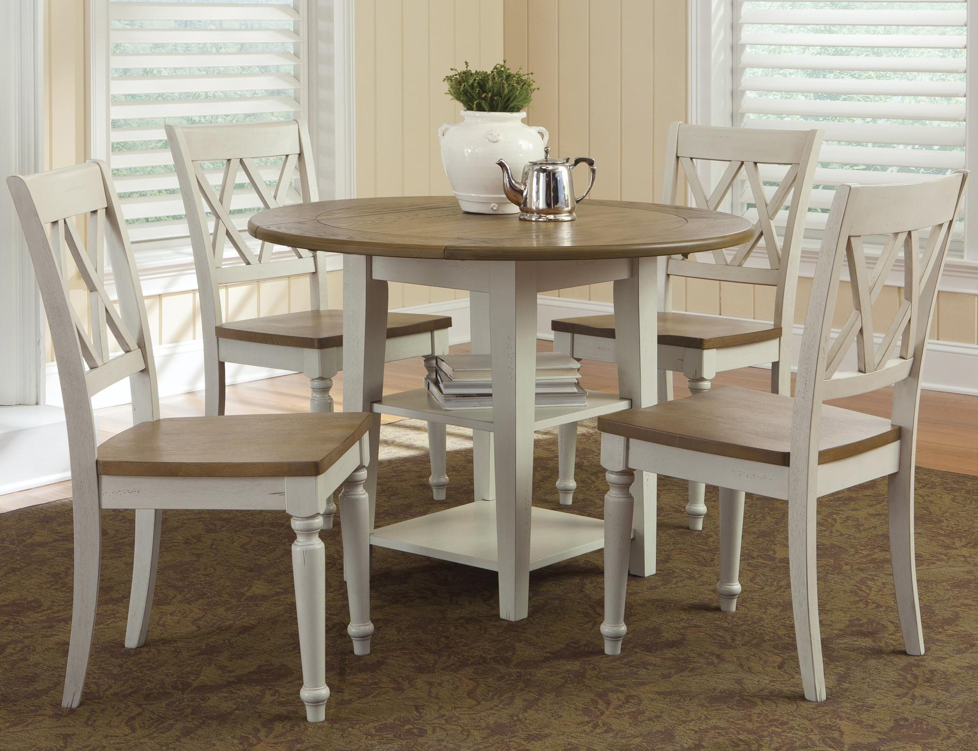 Al Fresco III 5 Piece Drop Leaf Table and Chairs Set by Liberty Furniture at Steger's Furniture