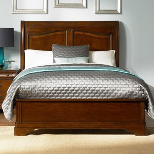 King Sleigh Bed with Low Profile Footboard