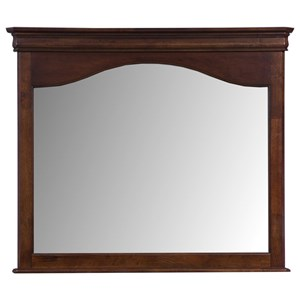 Traditional Landscape Mirror with Framed Top