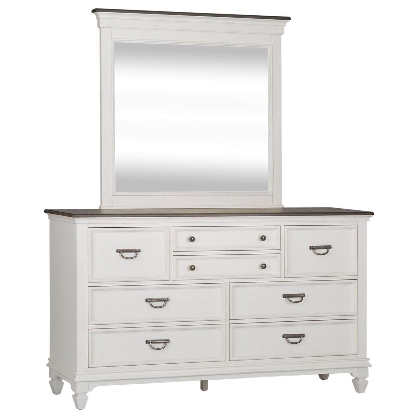 Allyson Park Dresser & Mirror  by Sarah Randolph Designs at Virginia Furniture Market