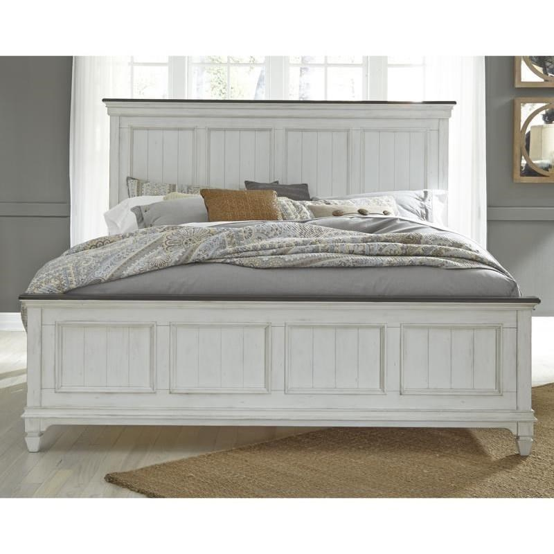 Allyson Park King Panel Bed  by Liberty Furniture at Steger's Furniture