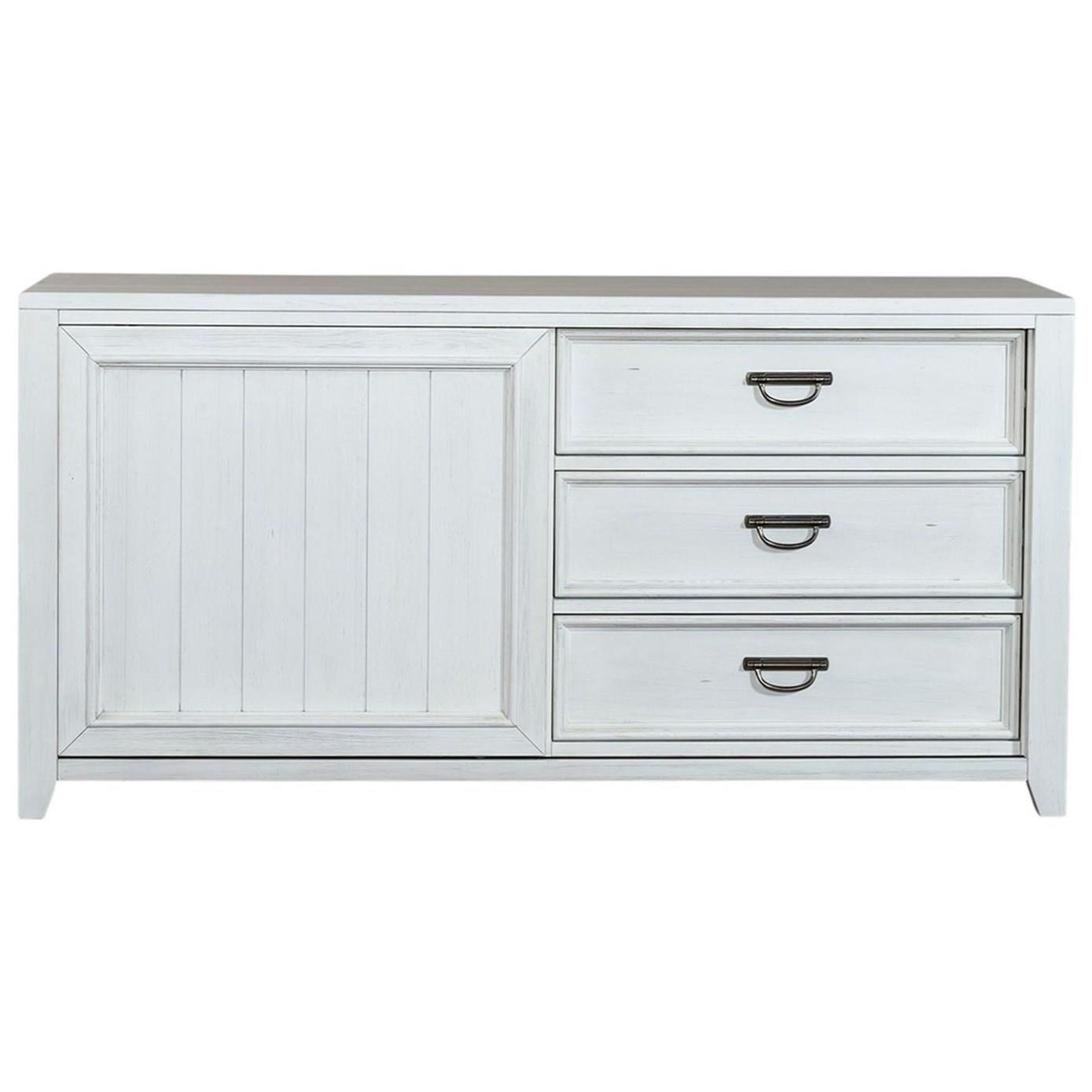 Allyson Park Sliding Door Dresser by Liberty Furniture at Home Collections Furniture