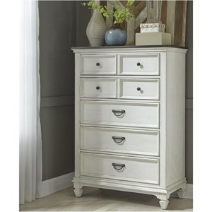 5 Drawer Chest with Felt Lined Top Drawer