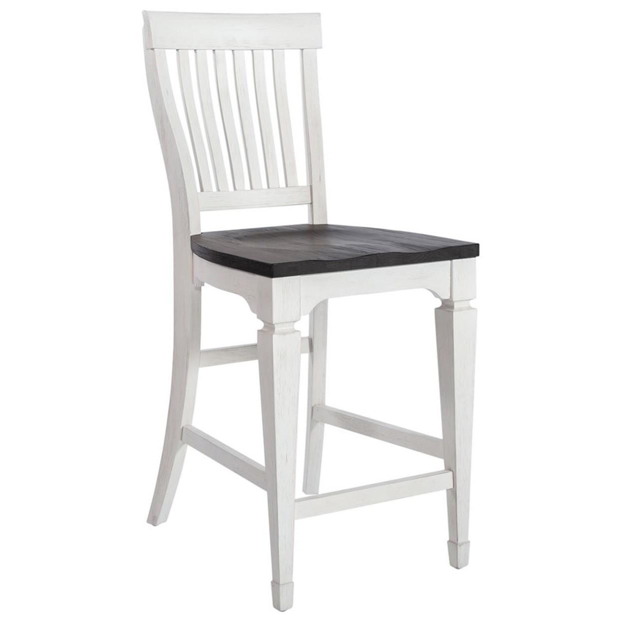 Allyson Park Counter Height Slat Back Chair by Liberty Furniture at Catalog Outlet